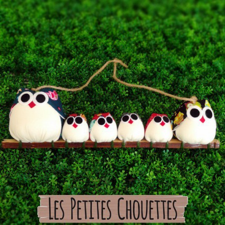 Famille 6 chouettes Mix