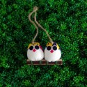 2 petites chouettes  tissu Coccinelle 5cm