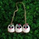 3 petites chouettes Hibou