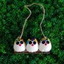 3 petites chouettestissu Coccinelle