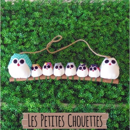 Famille 8 chouettes Mix