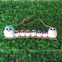 Famille 8 chouettes hiboux Mix couleur