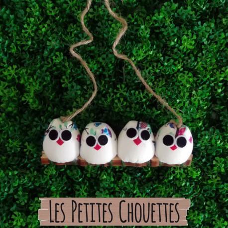 4 petites chouettes Hibou