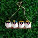 4 petites chouettes Coccinelle