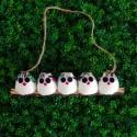 5 petites chouettes tissu Hibou 5cm
