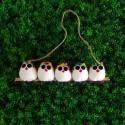 5 petites chouettes tissu Coccinelle