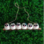 6 petites chouettes Hibou 5cm