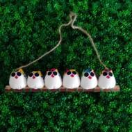 6 petites chouettes à personnaliser, parfait pour l'arbre à chouette généalogique