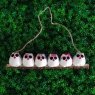 6 petites chouettes Fleur