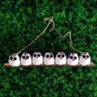 La chouette famille de 7 petites chouettes