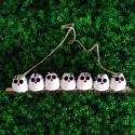 7 petites chouettes tissu Hibou 5cm