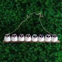8 petites chouettes tissu Hibou 5cm