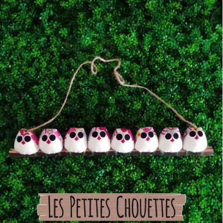 8 petites chouettes fleurs