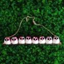 8 petites chouettes tissu Fleur 5cm