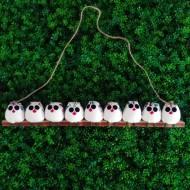 la chouette famille de 9  petites chouettes Hibou