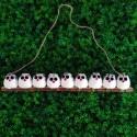 9 petites chouettes tissu Hibou 5cm