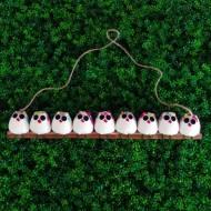 la chouette famille de 9  petites chouettes Fleur