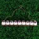 9 petites chouettes tissu Fleur 5cm