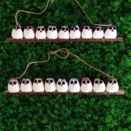 la chouette famille de 9  petites chouettes