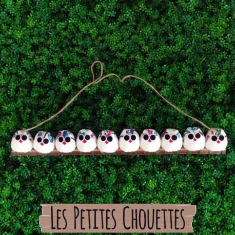 La chouette famille de 10 petites chouettes Hibou
