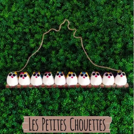 la chouette famille de 10 petites chouettes Coccinelle