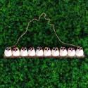 10 petites chouettes tissu Coccinelle 5cm