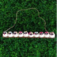 la chouette famille de 10  petites chouettes Fleur