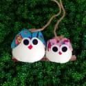 Famille 2 chouettes Hibou