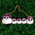 Famille 5 Chouettes hibou Fleur