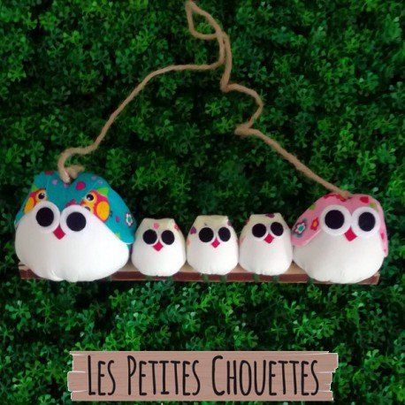 5 Chouettes  tissus chouette