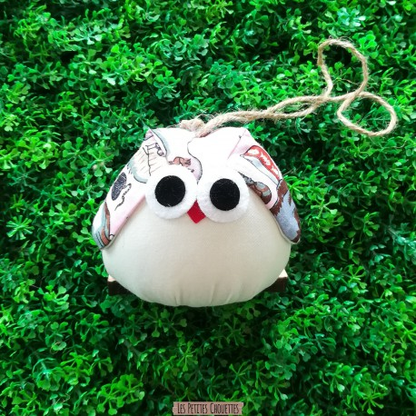 Chouette tissu chat rose, idéal pour un chouette cadeau personnalisé