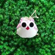 Van tissu rose chouette idée cadeau personnalisée pour la chambre d'un enfant