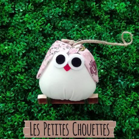 Chouette Paris tissu rose personnalisé pour la décoration