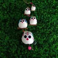 mobile 5 chouettes Hibou, parfait pour un cadeau de naissance