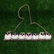 7 petites chouettes hiboux mélangé