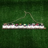 10 petites chouettes tissu hibou mélangé
